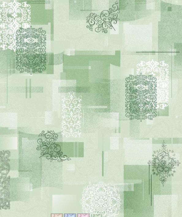 Саратов обои бумажные (симплекс) 0,53x10м  /зел Тетрис-04