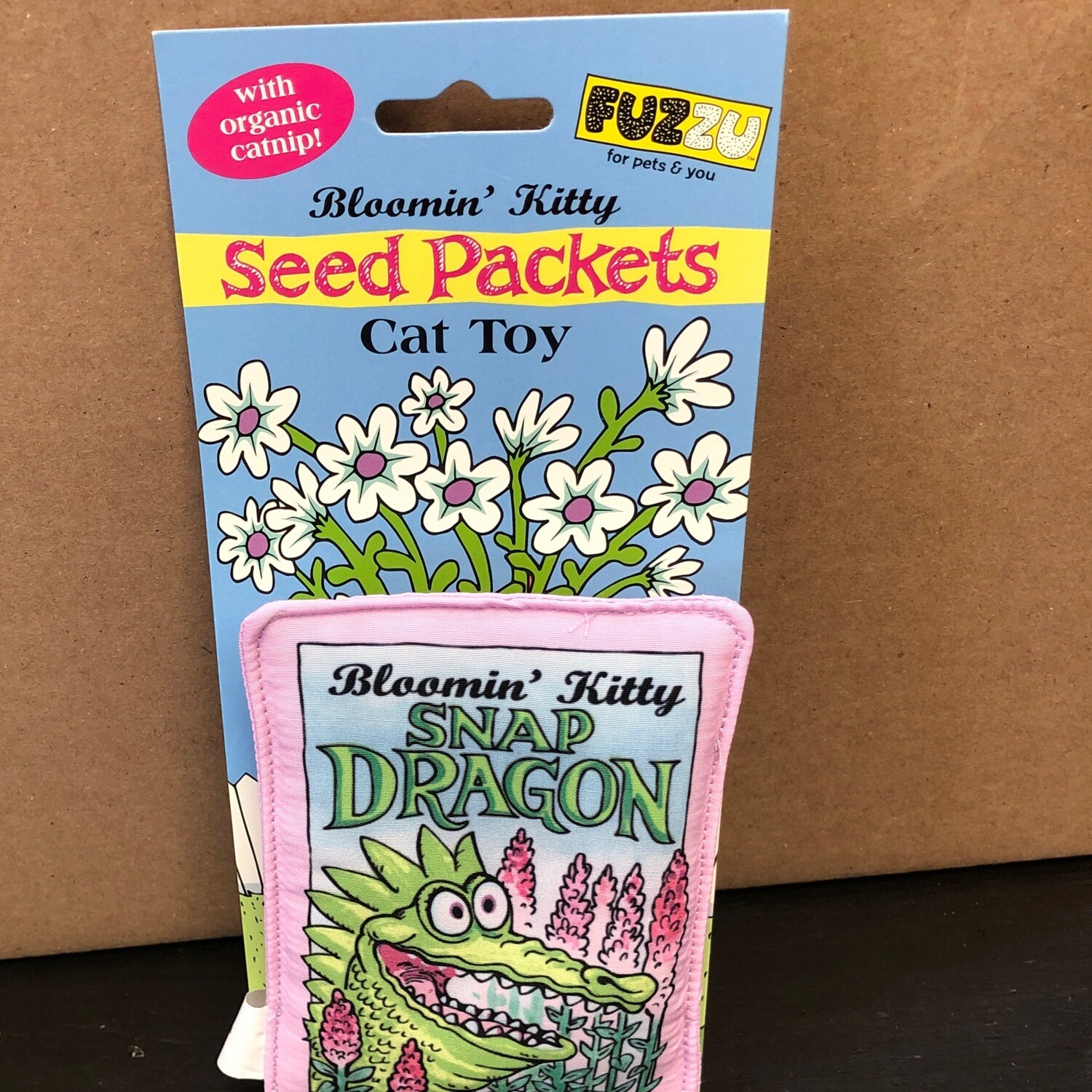 Fuzzu Cat Toy Seed Packet Snap Dragon