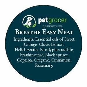 Pet Grocer Essential Oil - Breathe Easy