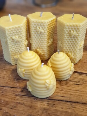 Beeswax Moulded Candles