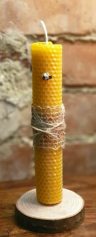 Large Rolled Beeswax Candle