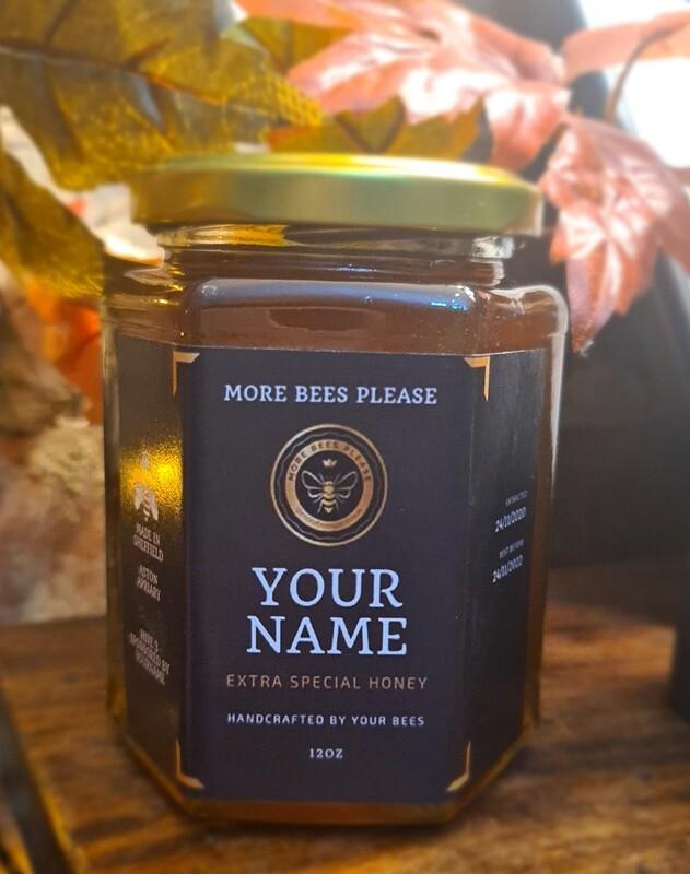 Personalized Honey Jar