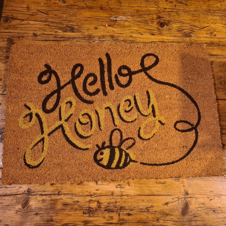 Hello Honey Door Matt