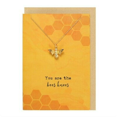 You Are The Bees Knees, Necklace & Card