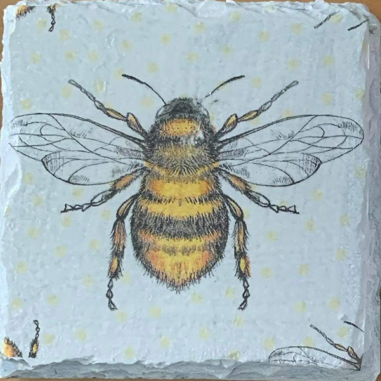 Slate Bee Coasters