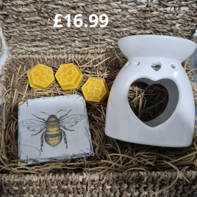 Large Heart Wax Melter Gift Set