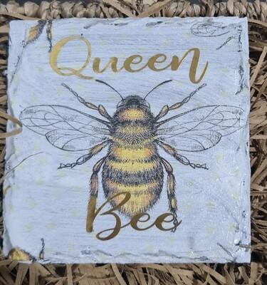 Queen Bee Slate Coaster