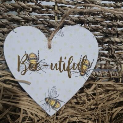 Medium Wooden Love Heart Slogan Signs