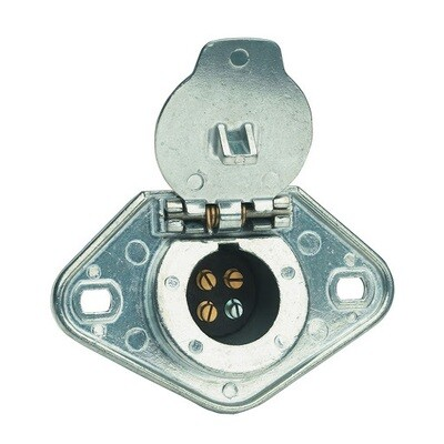 4-Way Round Connector Plug (Tow Vehicle Side)