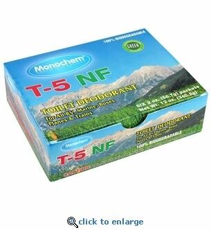 Monochem T-5 N.F. Toilet Deodorant Pouches 6-Pack