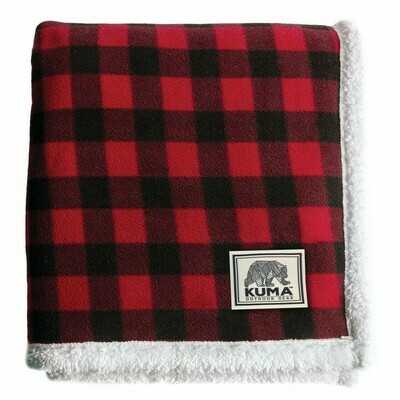 Kuma Plaid Sherpa Throw Blanket