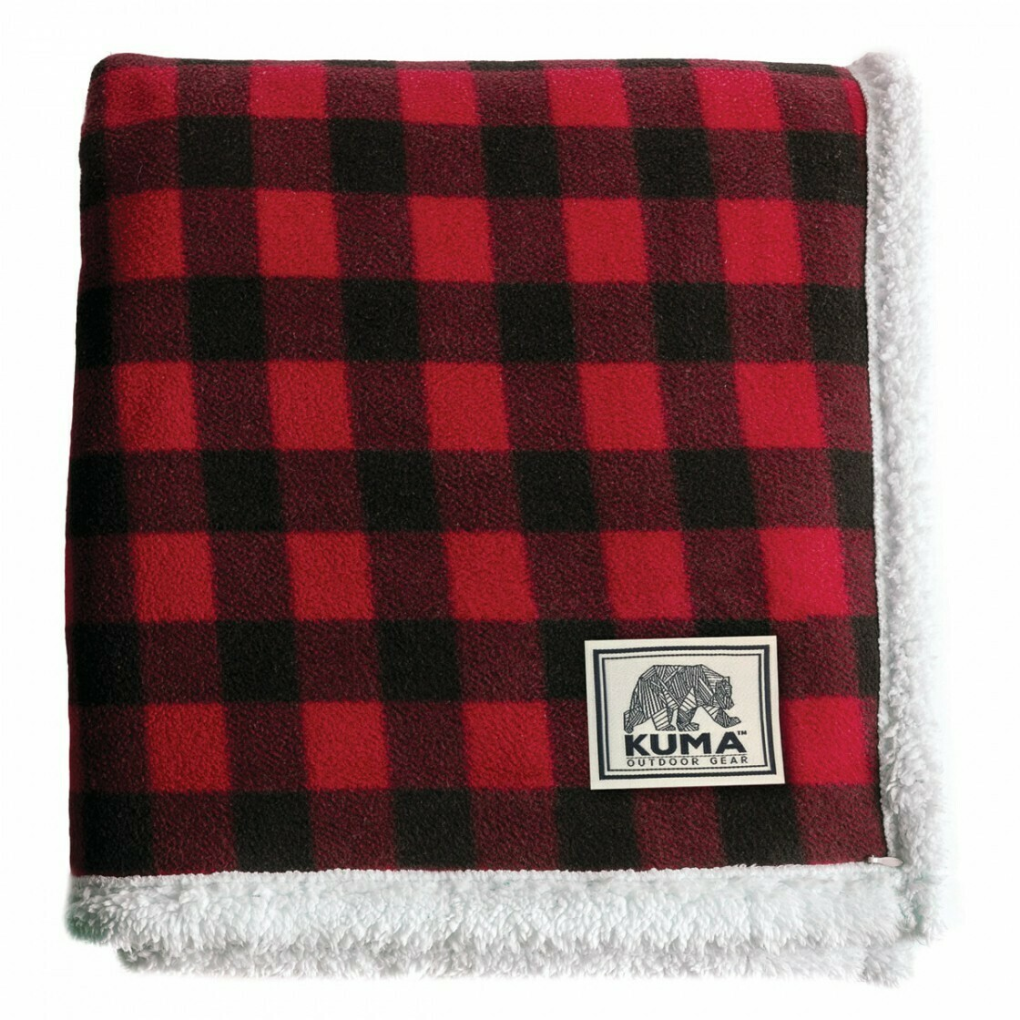 Kuma Plaid Sherpa Throw Blanket