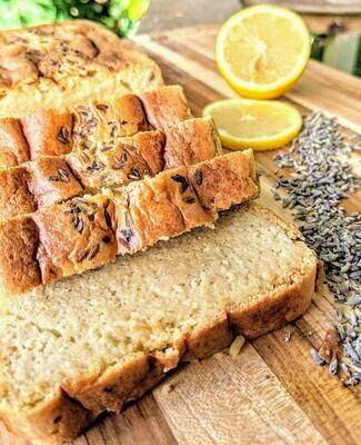 Lavanda-Limón Keto Pound Cake
