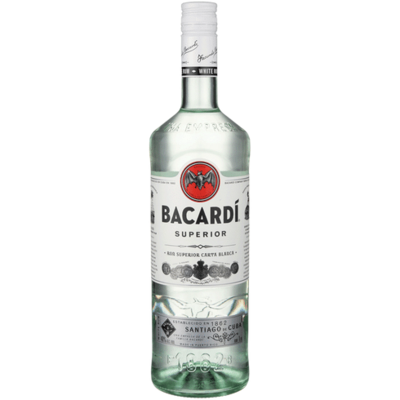 Bacardi White Rum 1.0L