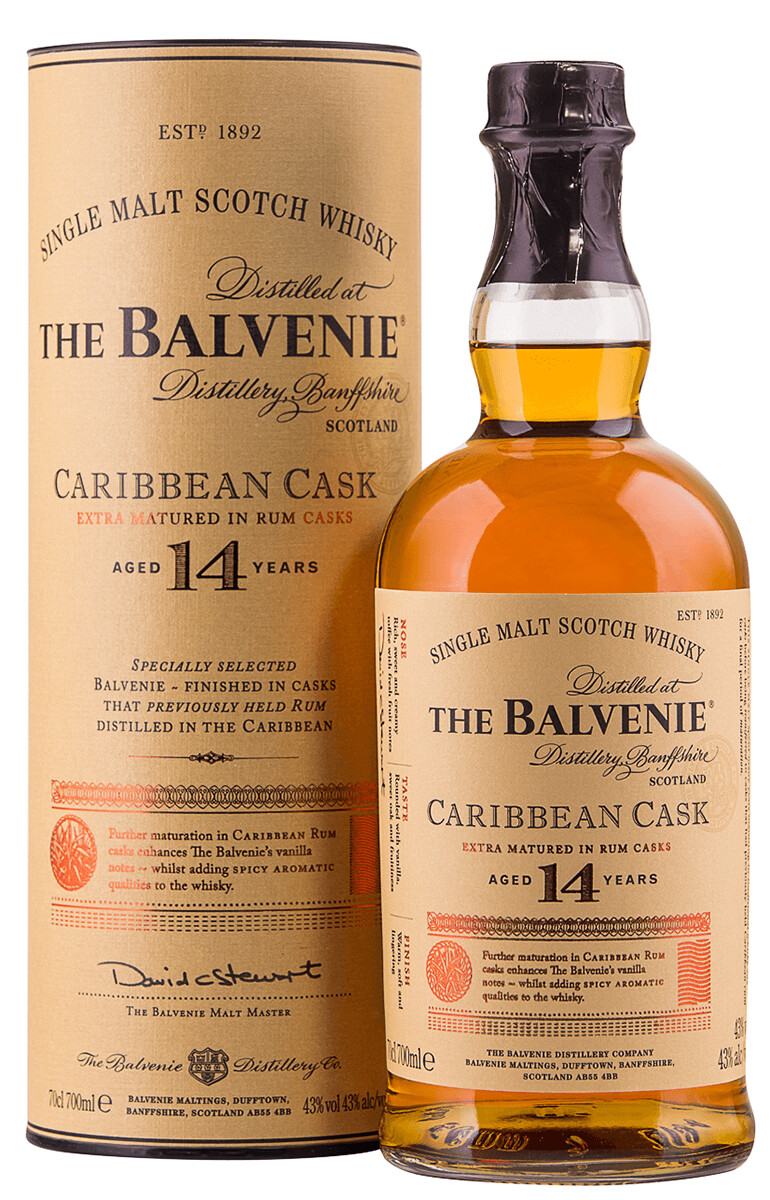 The Balvenie Caribbean Cask 14yr Scotch Whisky 750ml