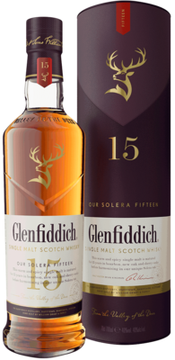 Glenfiddich 15yr Unique Solera Reserve - Single Malt Scotch Whisky 750ml