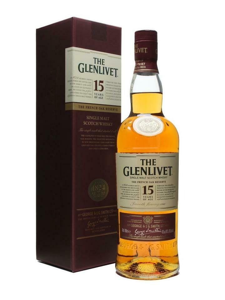 Glenlivet 15 Year Single Malt Scotch 750ml