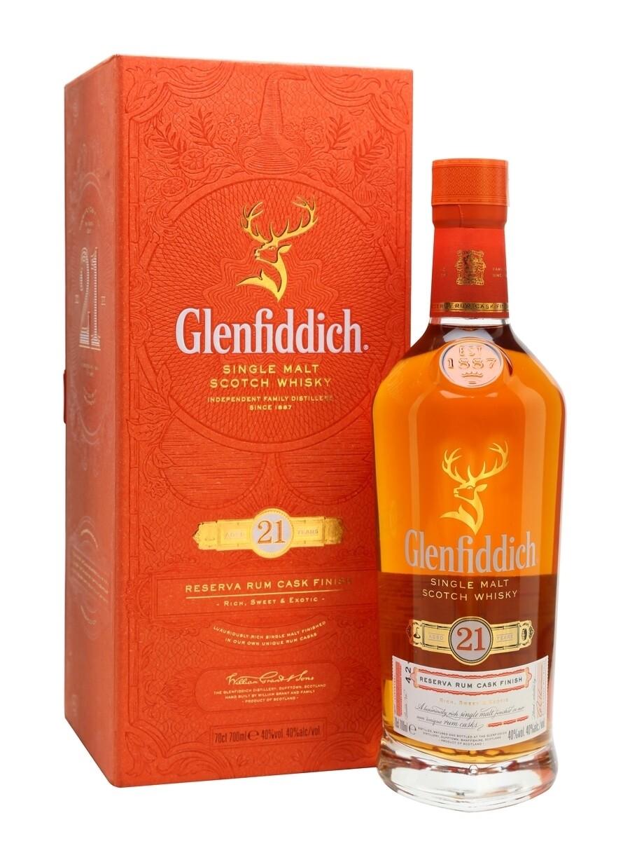 Glenfiddich 21 Year Old Gran Reserva, Rum Cask Finish Scotch Whiskey 750ml