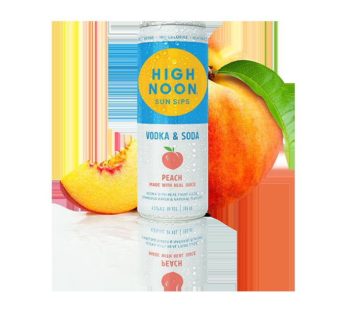 High Noon Peach 4/355ml Cans