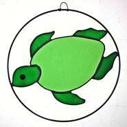 Stained Glass Turtles