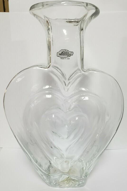 Blenko Heart Vase