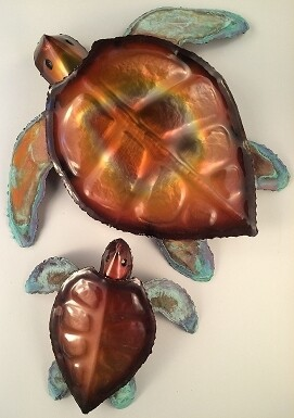 Water Fired Copper Wall Hangings