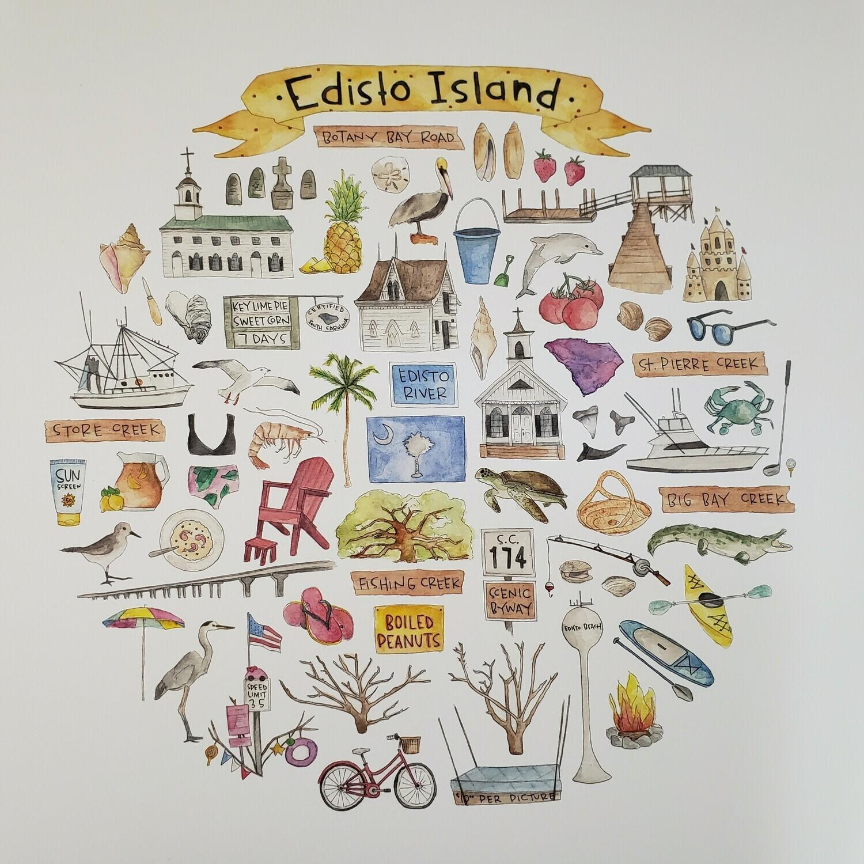 Edisto Island Watercolor Print