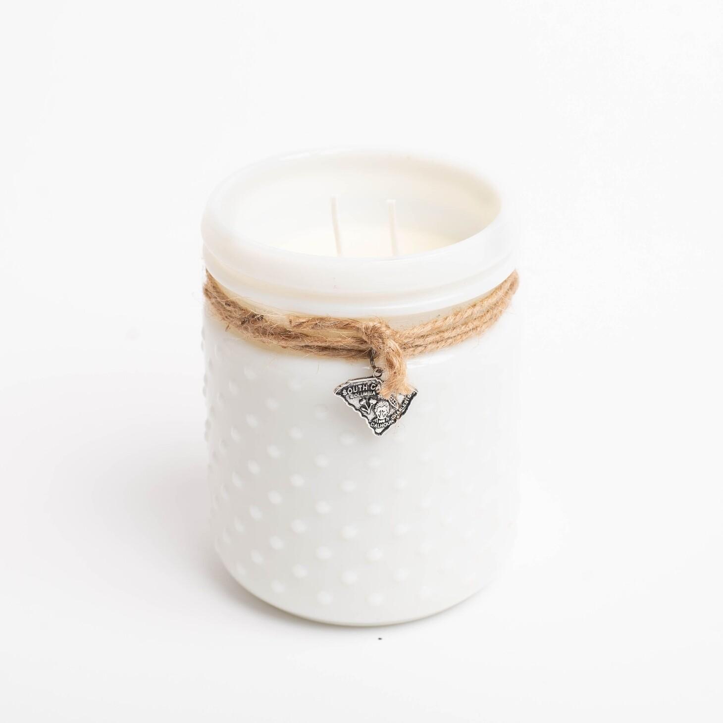 Milk Glass Candles