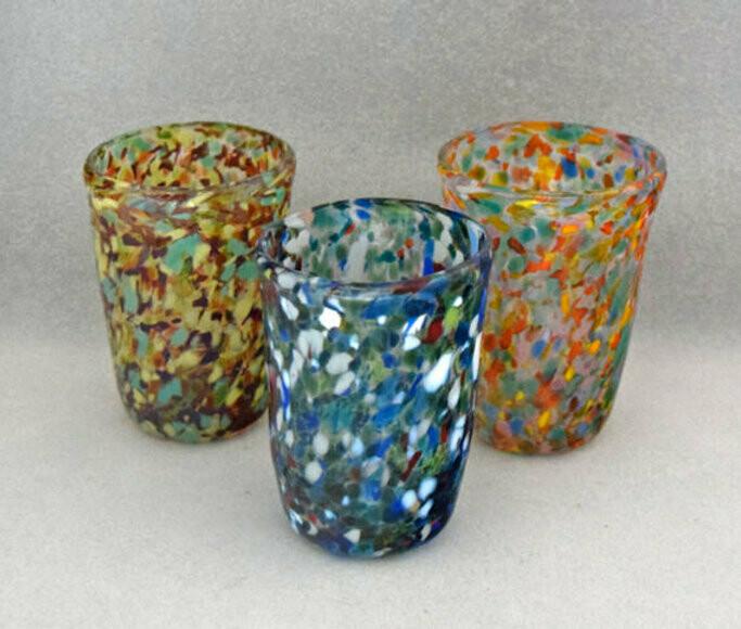 Speckled Shot Glass