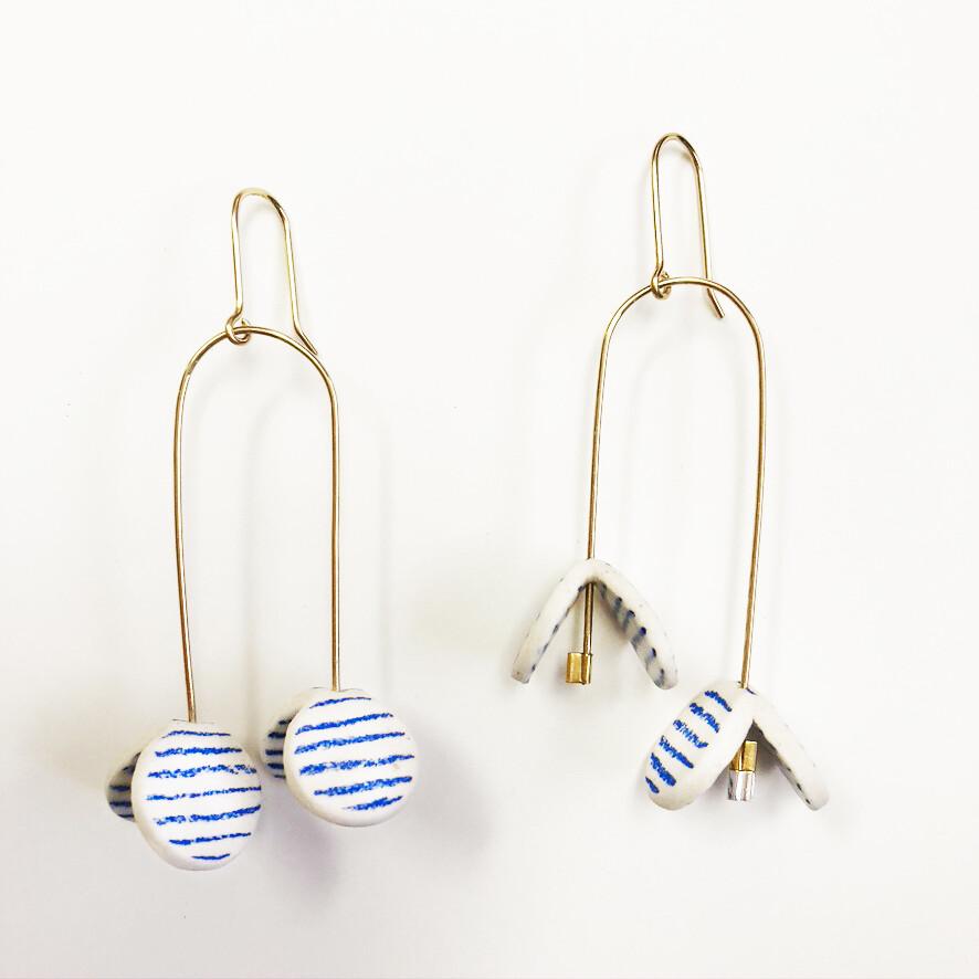 Porcelain Butterfly Earrings