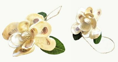Shell Magnolia Ornaments