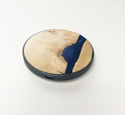 Wood & Resin Wireless Charger
