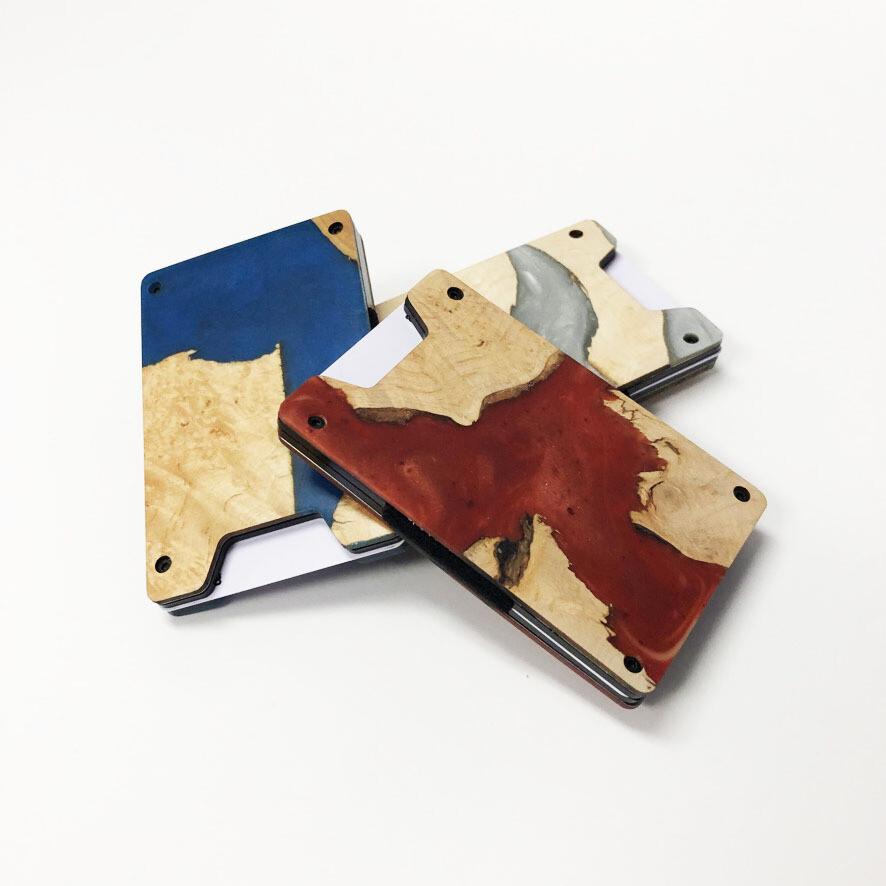 Wood & Resin Minimalist Wallet