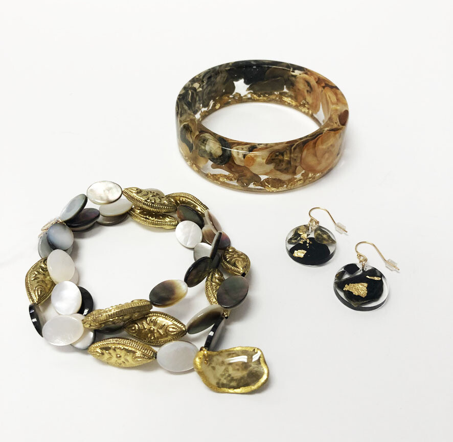 Resin and Oyster Jewelry