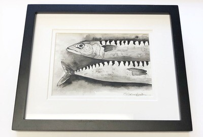 Ink and Charcoal Original Fish