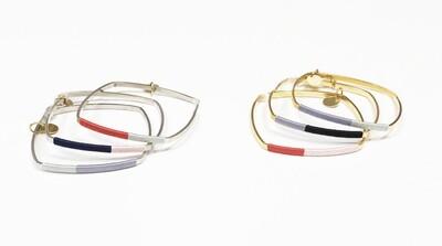 Wrapped Square Bangle Bracelets