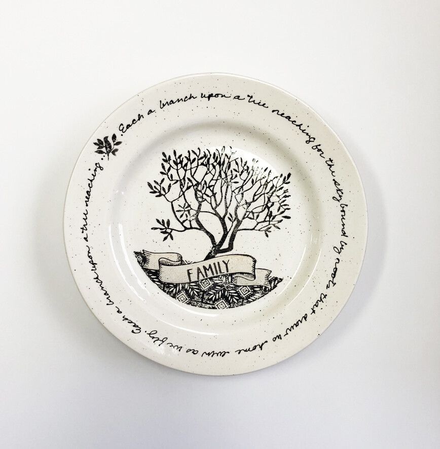 Family Tree Serving Plate