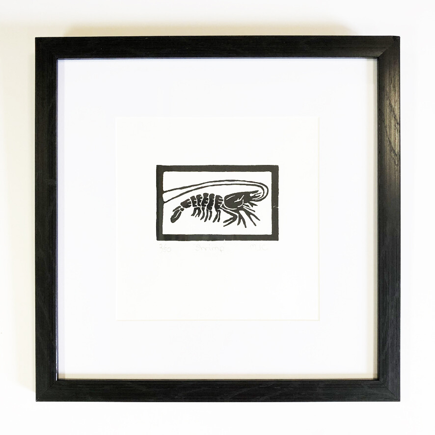 Black & White Block Prints by Mindy Crawford