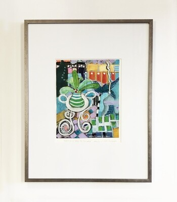 Helen Newton Framed 14 x 18 Abstracts