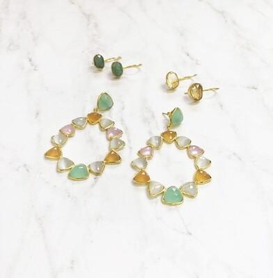 Jeweled Dangler Earrings