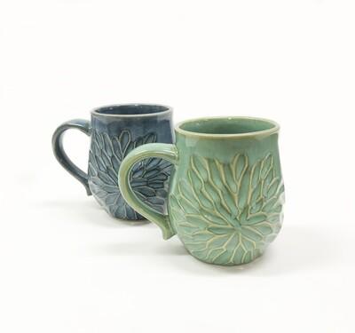 Carved Petals Mug