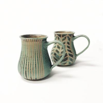 Turquoise Pottery Mugs