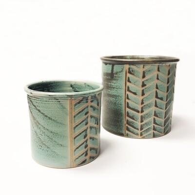 Turquoise Pottery Utensil Holders