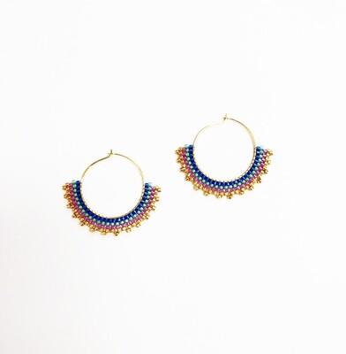 Seed Bead Hoop Earrings Creole