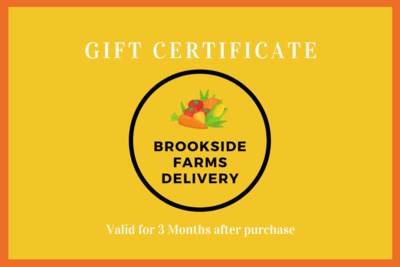 Brookside Gift card