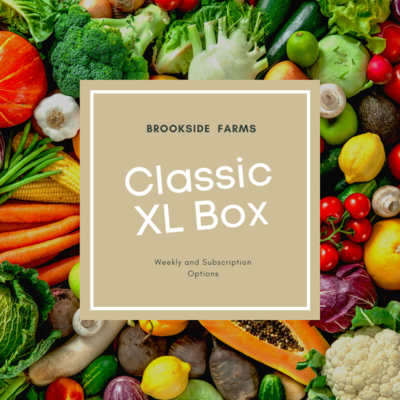Brookside Farms Classic XL Size Box of Mixed Fruits and Veggies for the Week of February 28th and/or Subscription Boxes for 4 Weeks!