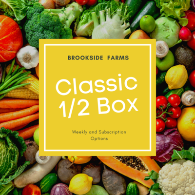 Brookside Farms Classic 1/2 Size Box of Mixed Fruits and Veggies for the Week of February 28th and/or Subscription Boxes for 4 Weeks!