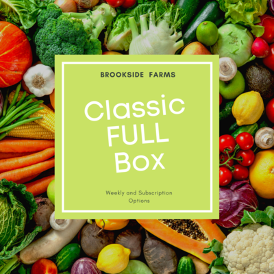 Brookside Farms Classic FULL SIZE Box of Mixed Fruits and Veggies for the Week of February 28th and/or Subscription Boxes for 4 Weeks!