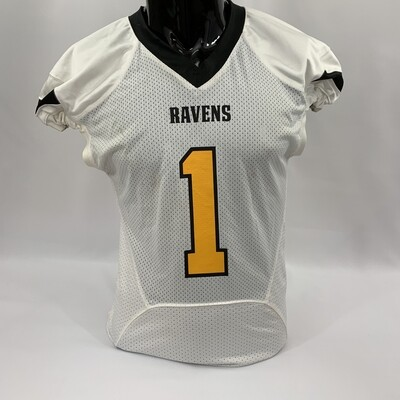 White with Gold and Black - RAVENS (Away)
