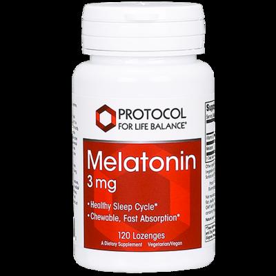 Melatonin 3mg 120 lozenges Protocol for Life Balance